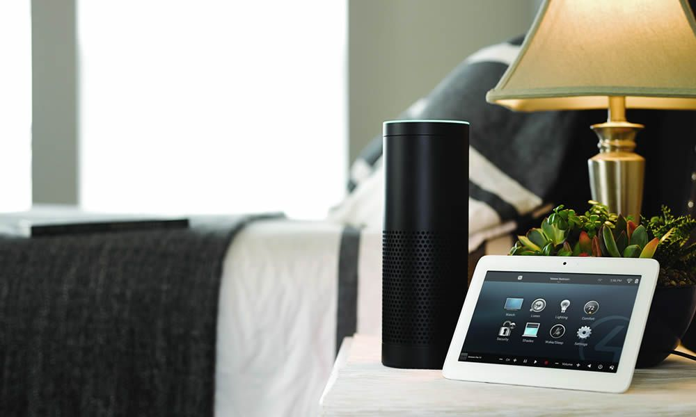 Control4, Amazon Echo, Smart Home Technology, Smart Home System Highland TX, Bedroom, Interface