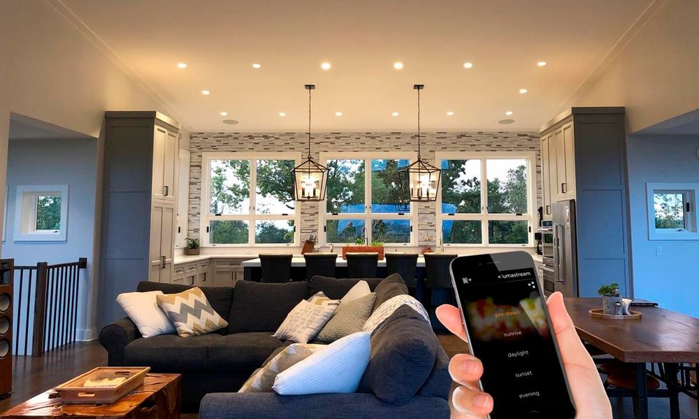 Lumastream, Smart Home Technology, Smart Home System Highland TX, Living Room, Lighting Control, kitchen